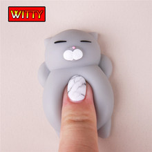 Little Cute Pinch Animal Antistress Toy Pink Cat Small Seals Nicholas Pinch Decoration Squishy Animal Cat Toys