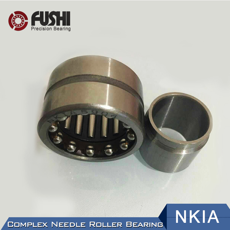 Complex Bearings NKIA59/22 NKIA5907 NKIA5908 NKIA5909 ( 1 PC) Needle Roller Angular Contact Ball Bearing 1pcs 71901 71901cd p4 7901 12x24x6 mochu thin walled miniature angular contact bearings speed spindle bearings cnc abec 7