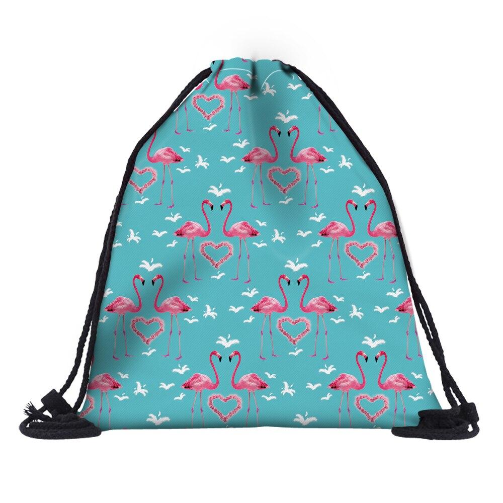 Honig Frauen Flamingos Rucksack 3d Druck Reise Softback Frauen Mochila Kordelzug Schule Mädchen Rucksäcke Lagerung Taschen Gepäck & Taschen