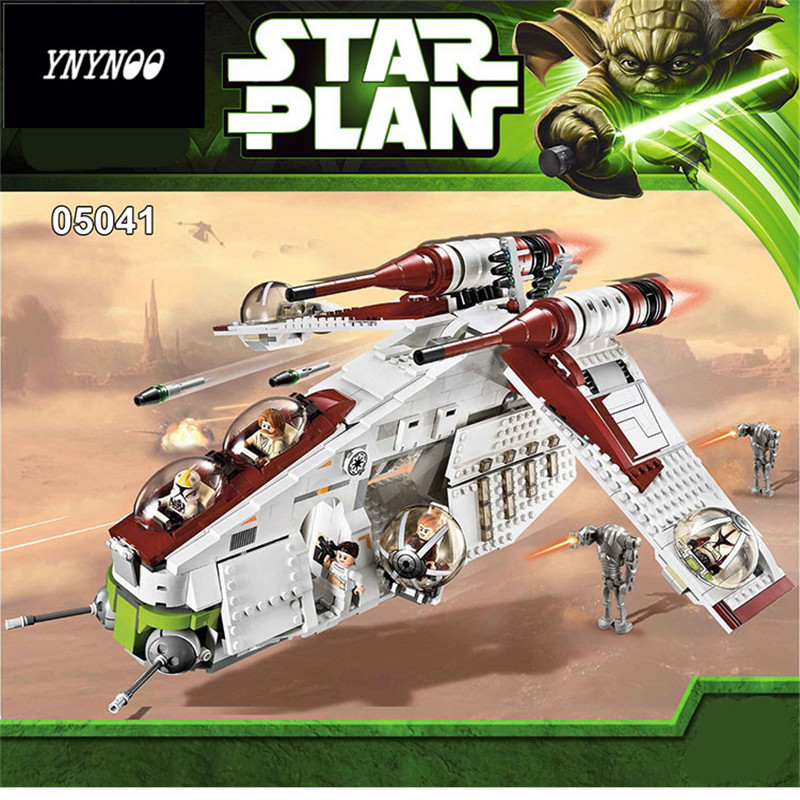 YNYNOO Lepin 05041 Star War Rogue One Series The The Republic Gunship Set Friends Educational Building Blocks Bricks Toys 75021 rollercoasters the war of the worlds