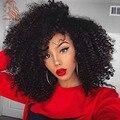 Afro Rizado Rizado Pelucas de Pelo Humano Para Las Mujeres Negras 14-20 Pulgadas Bob Styel 8A Virgen Pelucas Delanteras Del Cordón Brasileño Pelucas Llenas Del Cordón