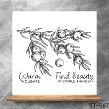 Wonderful thoughts Transparent Clear Stamps DIY Scrapbooking Album Card Making Decoration Embossing Stencil