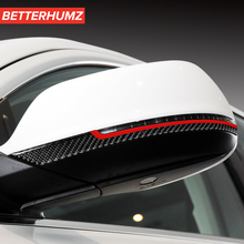 Decoración Interior de coche espejo retrovisor de fibra de carbono, tiras de frotación, pegatinas embellecedoras, estilo de coche para Audi Q5 Q7 SQ5, accesorios