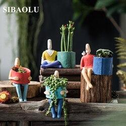 Plantas suculentas plantador vaso de flores cerâmica vaso de mesa titular casa jardim decoração planta titular pequeno pote bonsai
