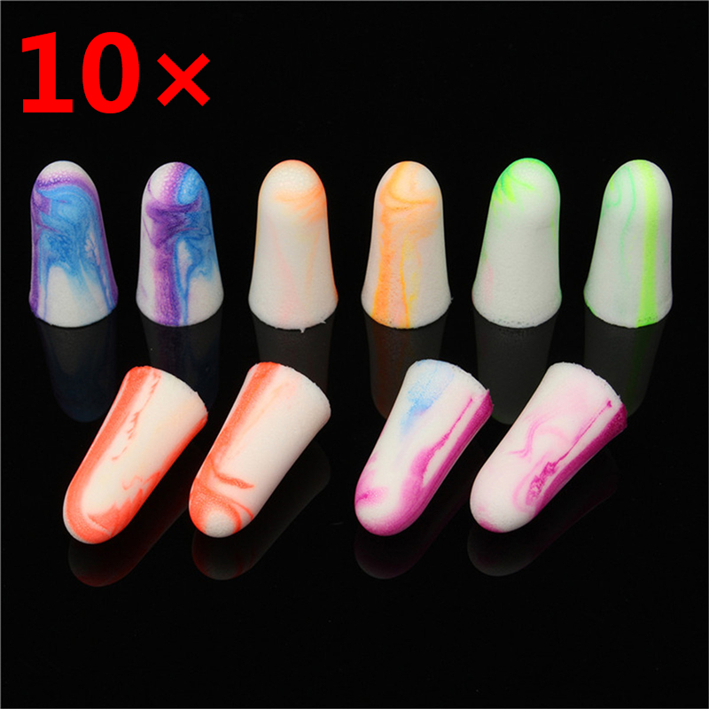 10PCS Soft Foam Ear Plugs Travel Sleep Noise Prevention Earplugs Noise Reduction Earplugs Earmuff Workplace Safety Supplies
