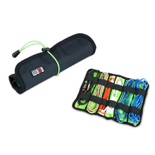 Happy New Year 2018  Promotion BUBM Roll Universal Pens Winder Stable Carrying Case USB Flash Drive Travel Storage Bag L Blue