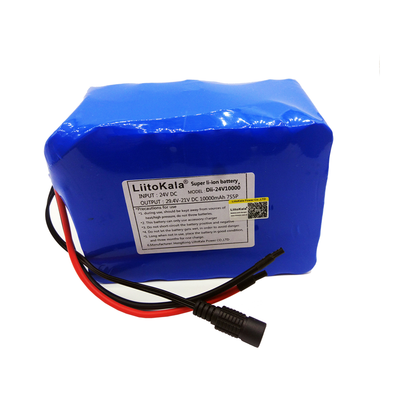 Image 4 - HK LiitoKala 24V 10Ah 7S5P 18650 Battery li ion battery 29.4v 8000mAh electric bicycle li ion wheelchair battery pack for 250w-in Battery Packs from Consumer Electronics