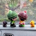 Cão dos desenhos animados boneca decoração do carro bonecas com suprimentos automotivos carro ornamentos interiores