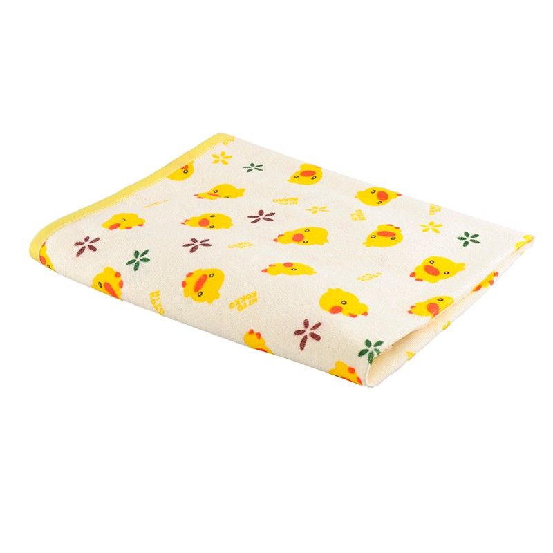 Baby Changing Mat Baby Waterproof Urine Pad Mat Cotton Washable Waterproof Bed Sheet Pad 70 X 60cm Size M image