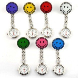 free shipping Nurse smiling face sheet / pocket watch / candy color / multi-color optional