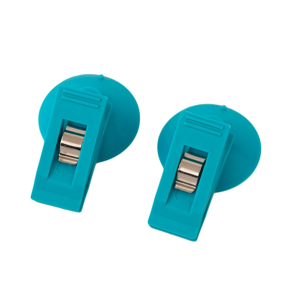Plastic curtain clips - 2pcs Blue Universal Car Suction Cup Plastic Clips Auto Fasteners For Ticket Pen Card Clip Holder For Curtains