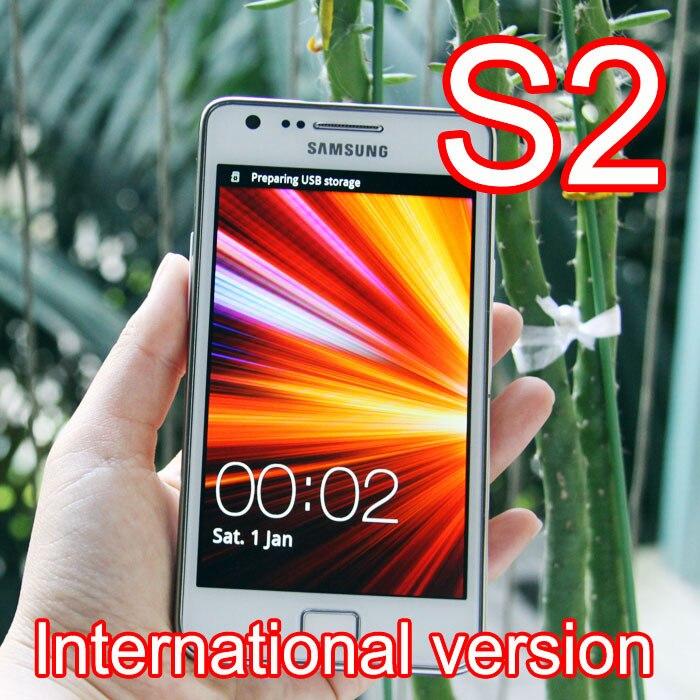 Цена за Оригинал Восстановленное SAMSUNG Galaxy S2 i9100 Мобильный Телефон Разблокирован 3 Г Wi Fi 8MP Андроид Телефон