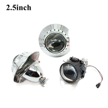 2.5inch  Bi xenon bi-xenon Projector lens with zkw shrouds hid xenon kit H1 H4 H7 car hid projector lens headlight Headlamp