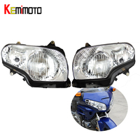KEMiMOTO GL1800 Head Lights Motorcycle Headlight Headlamp Accessories For Honda Goldwing GL 1800 2001 2006 Front Lamp Housing