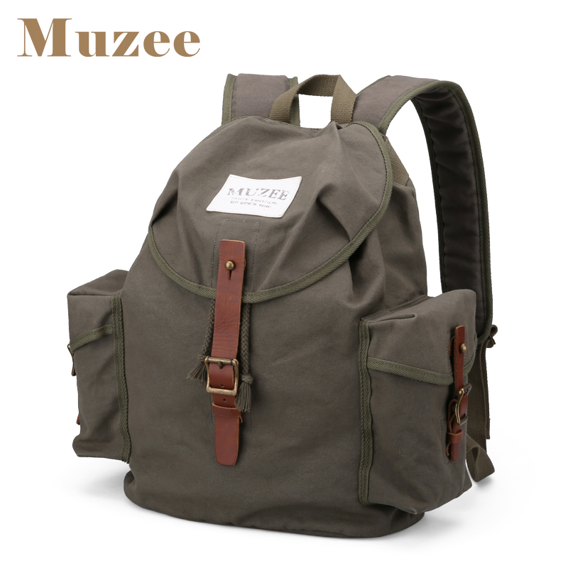Muzee Men New High Capacity Casual Backpack Men Canvas Travel Bag Trend Package Backpack купить дешево онлайн