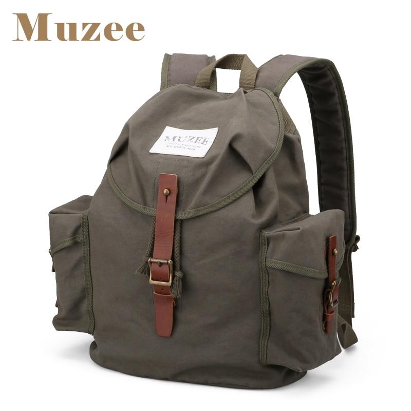Muzee Men New High Capacity Casual Backpack Men Canvas Travel Bag Trend Package Backpack casual canvas satchel men sling bag