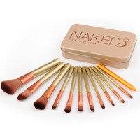 12pcs Natural Bamboo Professional Makeup Brushes Set Foundation Blending Brush Tool Cosmetic Kits Makeup Set Brusher