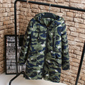 Fashion Camouflage Parkas Women Plus Size 3XL Loose Hooded Long Warm Parka Coat Outerwear KK2191