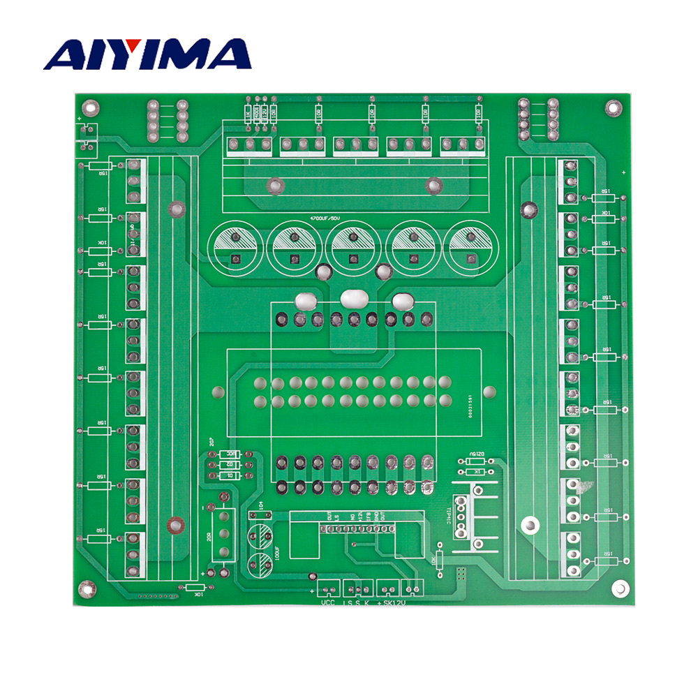 Aiyima 12V-48V Inverter Circuit Empty Board Double-sided EE85B Main Transformer Converter Bare PCB Boards For DIY jtron universal double sided pcb board green 2 x 8cm