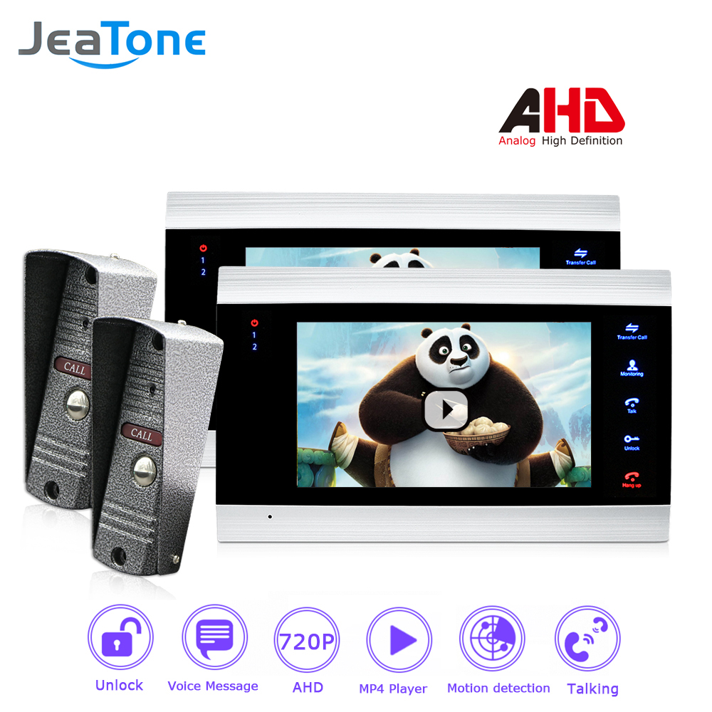 720P/AHD Video Intercom 7 Inch Video Door Phone Door Bell Door Speaker Security System Voice Message/Motion Detection/ 2 To 2
