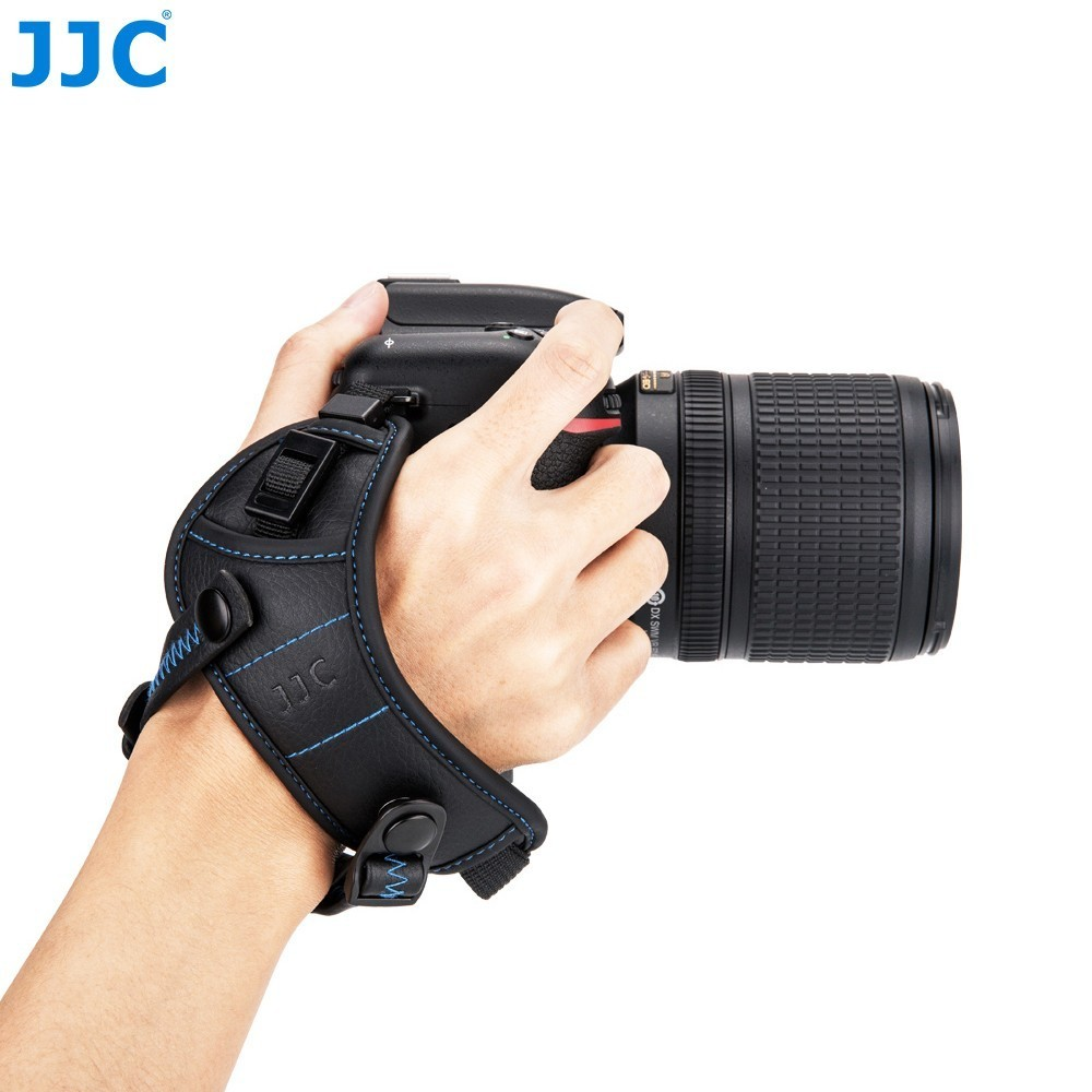 JJC Camera Wrist Carrying Belt Holder Genuine Leather Hand Grip Strap For Canon Nikon Sony Fujifilm Olympus Pentax Panasonic