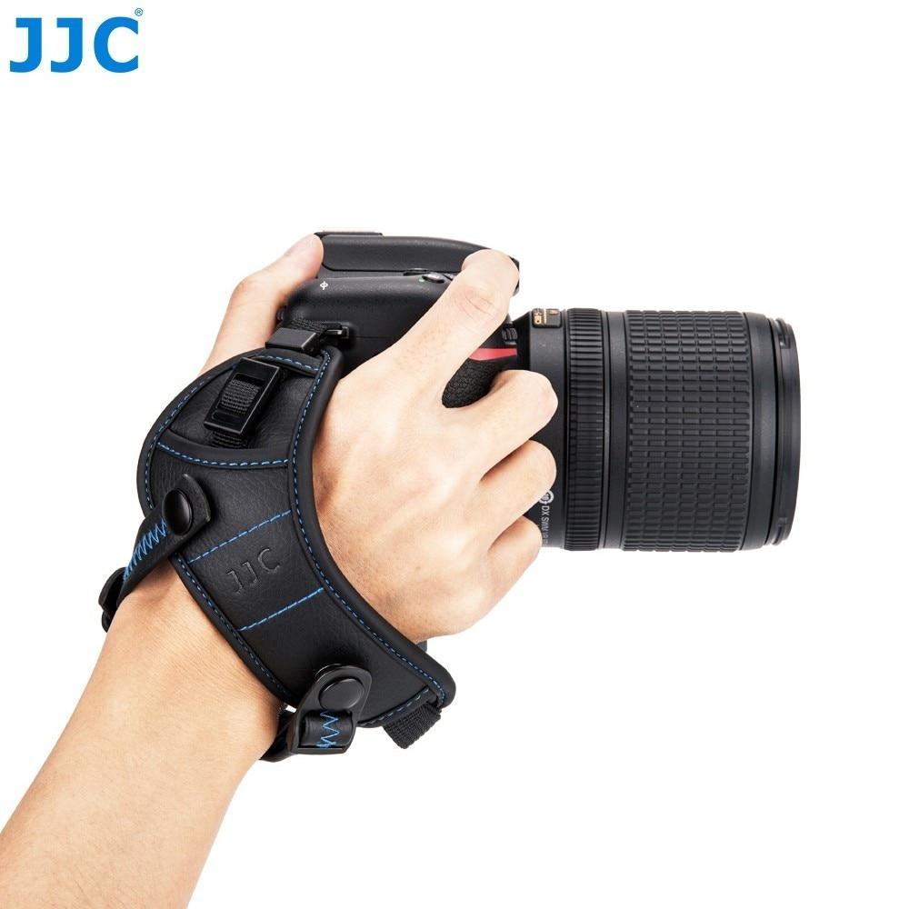 JJC Camera Wrist Carrying Belt Holder Genuine Leather Hand Grip Strap for Canon/Nikon/Sony/Fujifilm/Olympus/Pentax/Panasonic