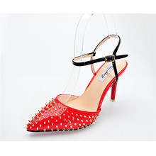 Sommer hochzeit absatzschuhe alias spitz satin party niet sandalen high heels pumpe stilettos fuß bedeckt WHZQ 055