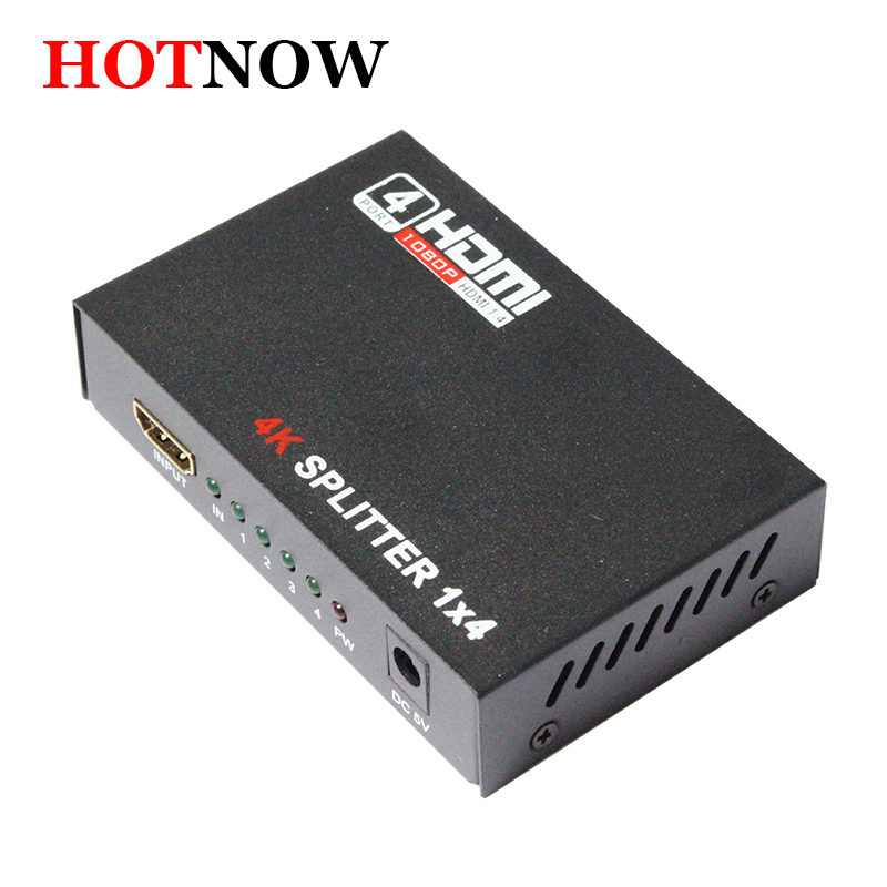 HDMI Splitter 1X4 Full HD 3D Vidéo 1X4 Split 1 en 4 Out Amplificateur Double Affichage Pour HDTV DVD PS3 Xbox HDCP 4 K * 2 K Vidéo