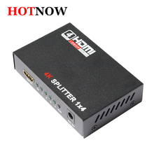 HDMI Splitter 1X4 Full HD 3D Video 1X4 Split 1 in 4 Out Amplifier Dual Display For HDTV DVD PS3 Xbox HDCP 4K*2K Video
