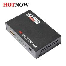 HDMI Разделение тер 1×4 Full HD 3D видео 1×4 Разделение 1 в 4 из Усилитель двойной Дисплей для HDTV DVD PS3 Xbox HDCP 4 К * 2 К видео