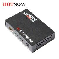 HDMI Splitter 1X4 Full HD 3D Video 1X4 Bölünmüş 1 in 4 HDTV DVD PS3 Xbox Için HDCP Out Amplifikatör Çift Ekran 4 K * 2 K Video