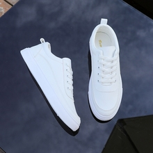 Small white shoes male spring 2019 new summer breathable wild bottoming couple pure tide
