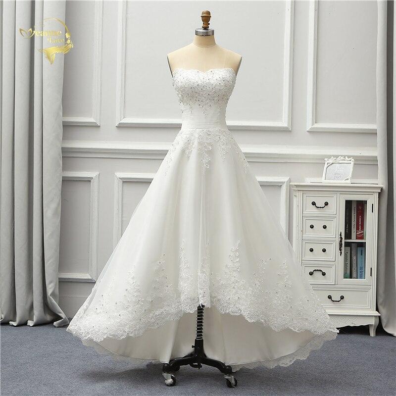 Aliexpress Com Buy Jeanne Love 2019 New Arrival Best: Jeanne Love Short Front Long Back Wedding Dresses 2019 New
