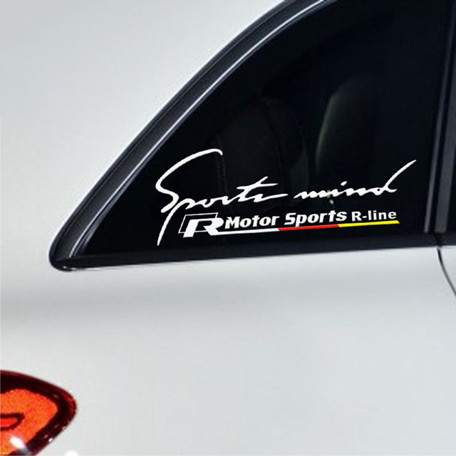 Sport mind r line car window decor sticker for volkswagen audi and so on