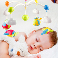Baby Rattles Bed Bell Toys Mobile Crib Double Bed Musical Bell Kids Early Learning Toy with Rattles Baby Appease Toy