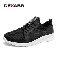 DEKABR Brands High Quality Men Casual Shoes Lace Up Mesh Footwear New Spring Lightweight Comfortable Men