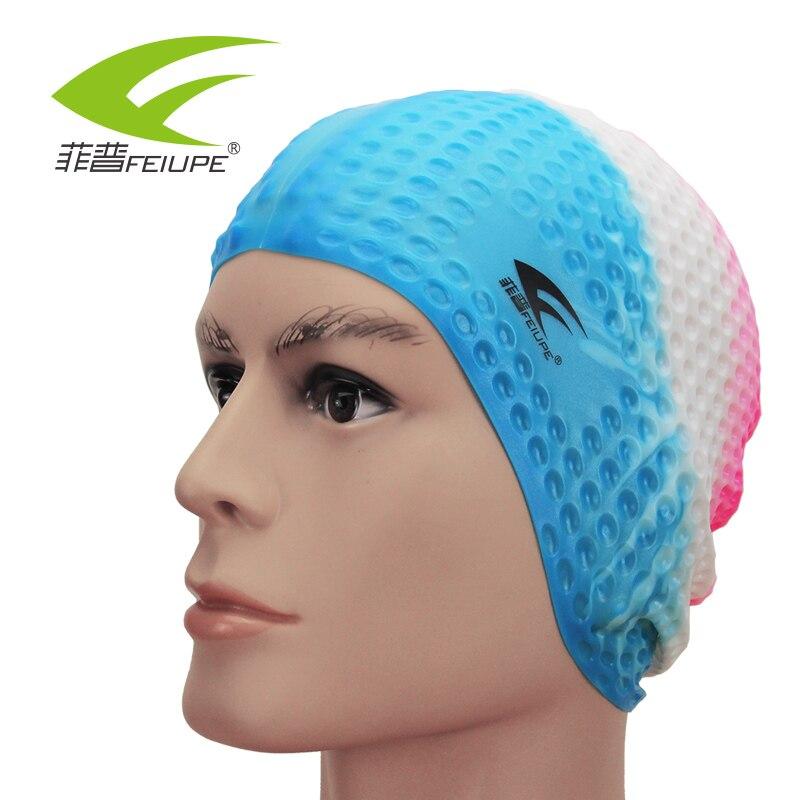 Bathing Caps For Swimming Cap Silicone Protect Ear Long Hair Summer Accessories for Beach Head Cover Bonnet De Bain Waterproof