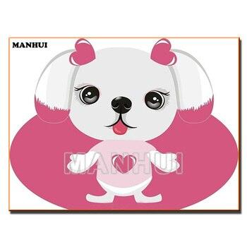 5D DIY Вышивка с кристаллами милая собака, животного Алмазная мозаика, алмазная Вышивка изображение Стразы подарок 51