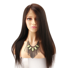 hot deal buy light yaki straight human hair lace front wigs 250 density 13x6 brazilian remy human hair wig for black women baby hair eseewigs