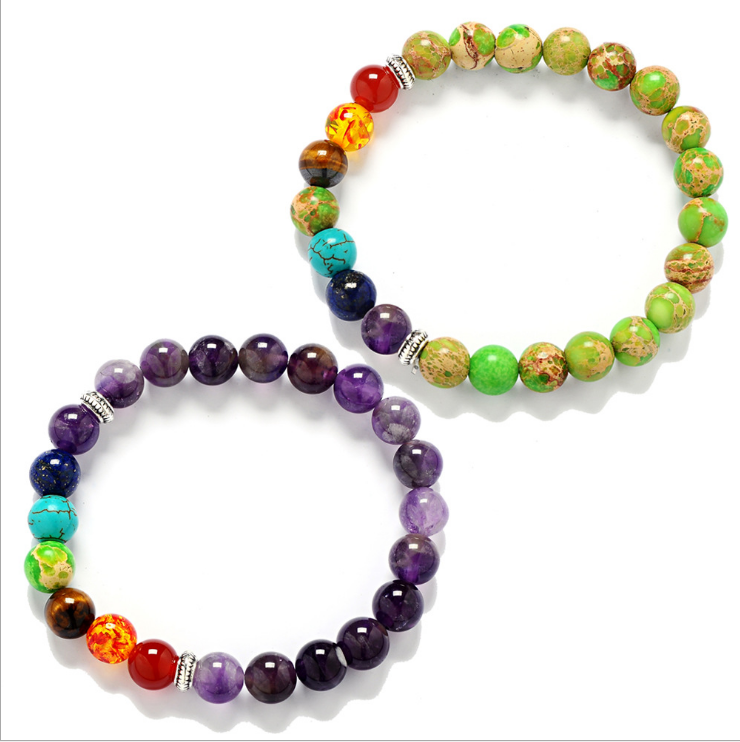 Fashion 7 Chakra Bracelet Men Black Lava Healing Balance Beads Reiki Buddha Prayer Natural Stone Yoga Bracelet Women Jewel