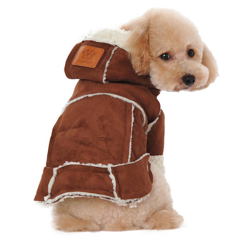 Dog Cloth Winter Warmer Suede Fabric Dog Clothes Winter Warm ...