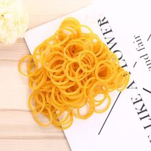 Bande élastique jaune pour emballage de bureau, fournitures de papeterie à boucle