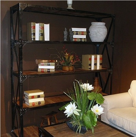 American country wrought iron shelves Shelves TV word separator casual and simple imitation rust products