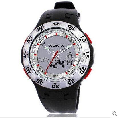 Ausdrucksvoll Männer Armbanduhr Sportuhren Doppelanzeige Jungen Digitaluhr Led-beleuchtung Wasserdichte 100 Mt Schwimmen Taucheruhr Uhr Attraktive Designs;