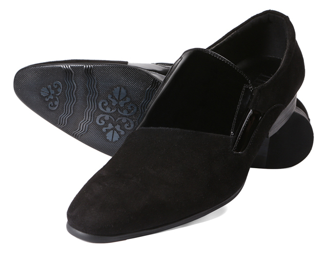 Tiding Mens Black Oxford Suede Shoes On Sale Stylish Leather Dress