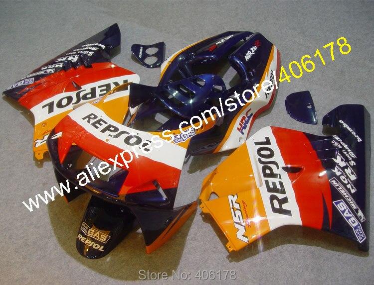 Hot Sales,Cheap For Honda NSR-250R NSR250R NSR 250R MC21 1990-1993 90 91 92 93 Repsol Moto fairings set (Injection molding)