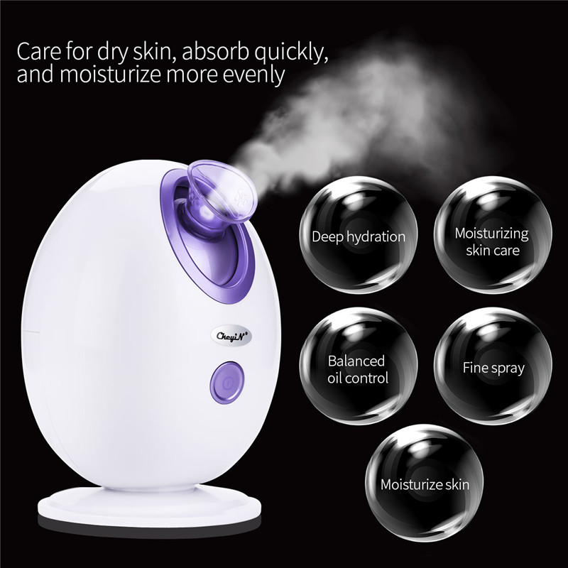 Steam Ozone Facial Steamer Nano Face Sprayer Vaporizer Skin SPA Beauty Instrument Machine Whitening Moisturizing Exfoliating