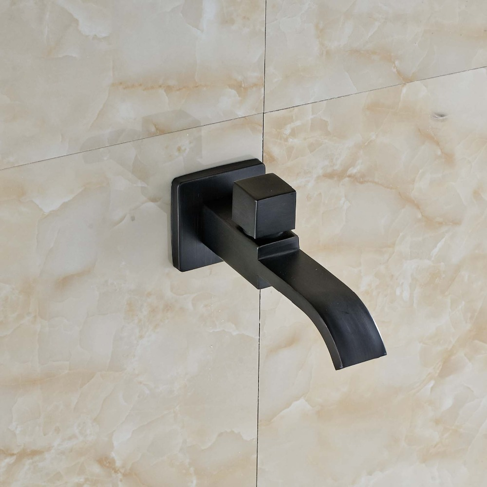Oil Rubbed Bronze Waterfall Bathroom Poll Faucet Shower Spout Tap