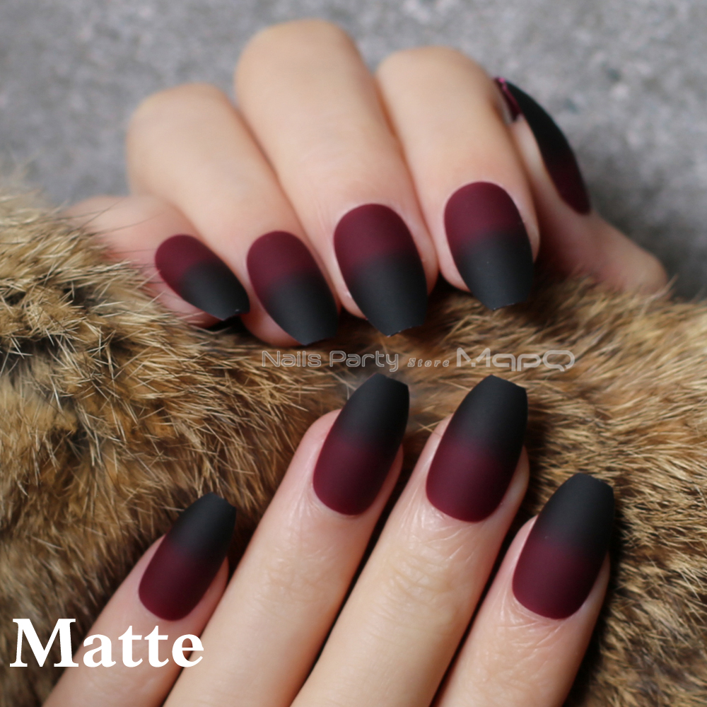 coffin matte red black gradient