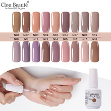 Clou Beaute Nude Serie Gel Polish Set Per Manicure UV Gel Per Unghie Nail Polish Base & prodotti per superficie e smalti Semi Permanente Ibrido gel Polish(China)